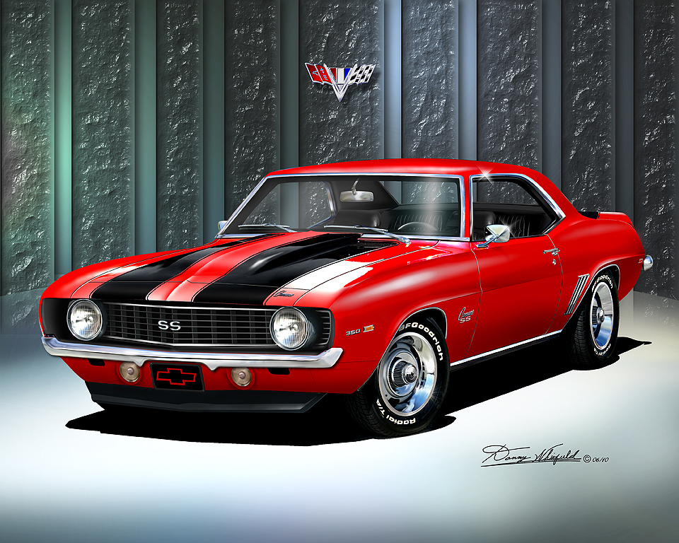 custom automotive artwork 69/' Camaro