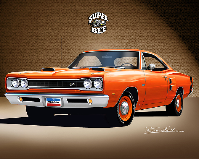 19691970 Dodge Superbee fine art prints by Danny Whitfield